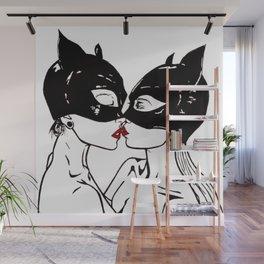 Masked girls Wall Mural