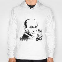 putin Hoodies featuring Putin by Valentina