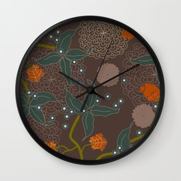 jungle delights chocolate Wall Clock