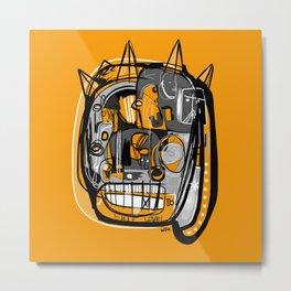 Fiesta Face Metal Print