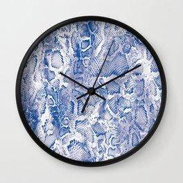 Blue Snakeskin  Wall Clock