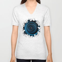 Eye of the cyclone Unisex V-Neck