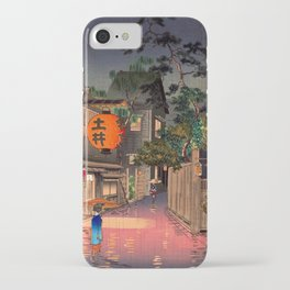 Tsuchiya Koitsu - Evening at Ushigome - Japanese Vintage Woodblock Painting iPhone Case