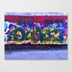 QUONE Train Piece Canvas Print