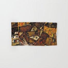 CRESCENT OF HOUSES (THE SMALL CITY) - EGON SCHIELE  Hand & Bath Towel