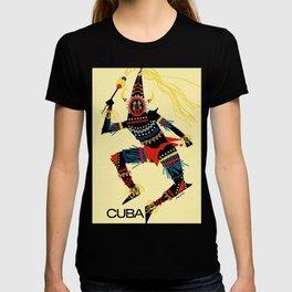 Vintage Cuba Costumed Dancer Travel T-shirt