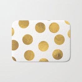 Gold Foil Polka Dots Bath Mat