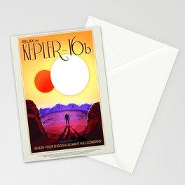 NASA Space Travel Retro Poster Kepler- 16B Stationery Cards