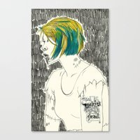 paramore Canvas Prints featuring Waking from the dead by Marconte