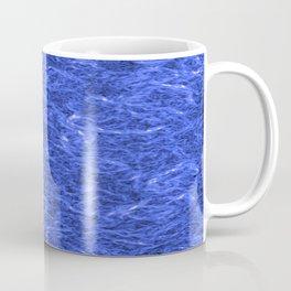 Horizontal metal texture of bright highlights on light blue waves. Coffee Mug