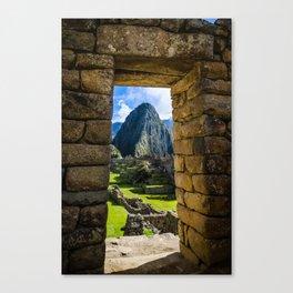 Doorways of Machu Picchu Canvas Print
