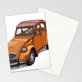 Orange 2CV Stationery Cards