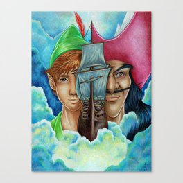 Peter Pan vs Captain Hook Canvas Print