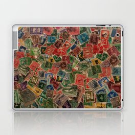 Vintage Postage Stamps Collection Laptop & iPad Skin