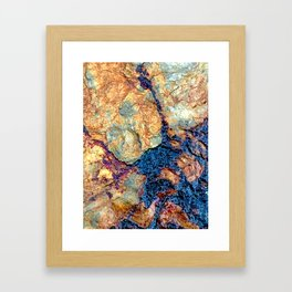 Digital Stone Design Framed Art Print
