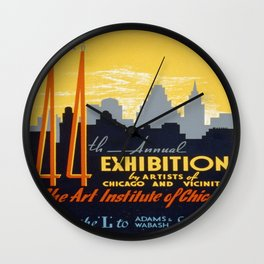 Vintage poster - 44th Annual Exhibition by Artists of Chicago and Vicinity Wall Clock