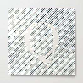 Striped Q Metal Print