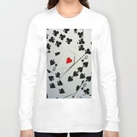poker Long Sleeve T-shirts featuring Poker by Jackie