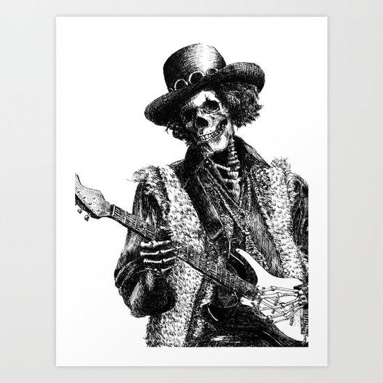 The Legend of Guitarist Art Print
