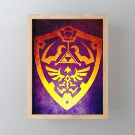 Zelda Shield II Framed Mini Art Print