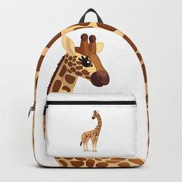Cute giraffe. Vector graphic character Backpack