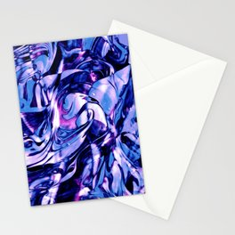 Fluid Painting 3 (Blue Version) Stationery Cards