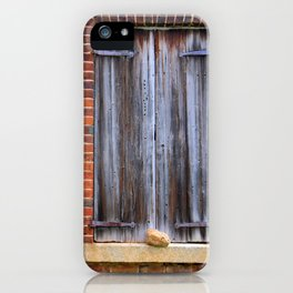 Wood Plank Shutters iPhone Case