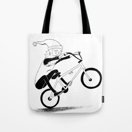 bmxsanta Tote Bag