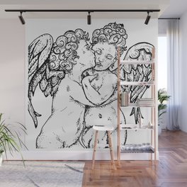 L'Amour et Psyché, enfants (The First Kiss) Wall Mural