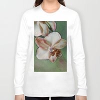 orchid Long Sleeve T-shirts featuring Orchid by LoRo  Art & Pictures