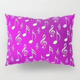 music, note, notes, ribbon, symbol, symbol, pink, purple, silver, pattern textile, fashion, trend, r Pillow Sham