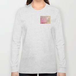 Serenity Prayer Pink Rose Floral Collage Long Sleeve T-shirt