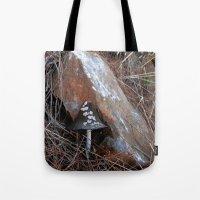 mushroom Tote Bags featuring Mushroom by aeolia