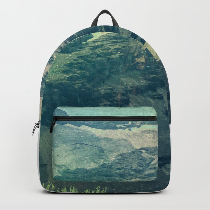 The Mountains are Calling And I Must Go Blue Backpack