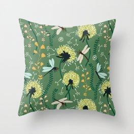 Dandelion Day Throw Pillow