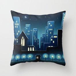City Lights 1 Throw Pillow