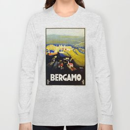 1920s Bergamo Italy travel Long Sleeve T-shirt