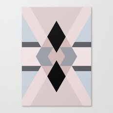 Geometric pattern blue and black Canvas Print