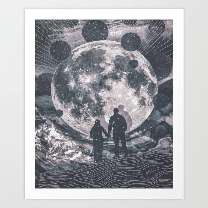 Moon Gazing Art Print