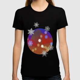 Mountains and Snowflakes T-shirt