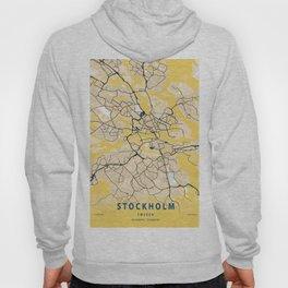 Stockholm Yellow City Map Hoody