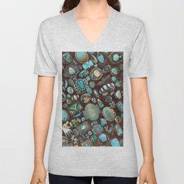 Vintage Navajo Turquoise stones Unisex V-Neck