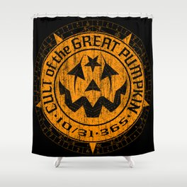 Cult of the Great Pumpkin: Alchemy Logo Shower Curtain