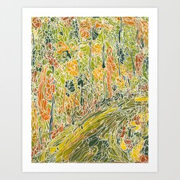 Duke Forest Trail 1 Art Print