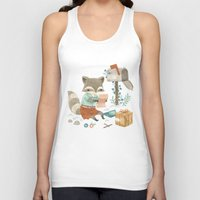 raccoon Tank Tops featuring Raccoon Post by Teagan White
