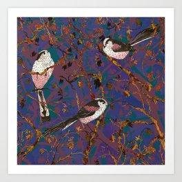 Lovely Little Long-tailed Tits Art Print