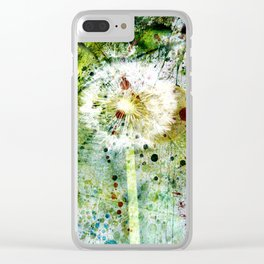Springtime dandelion Clear iPhone Case