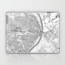 St Louis Map Line Laptop & iPad Skin