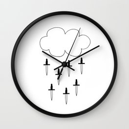 It's raining daggers Wall Clock