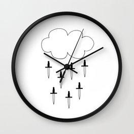 It's raining daggers Wall Clock